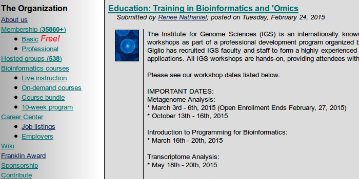 Image of Bioinformatics.org
